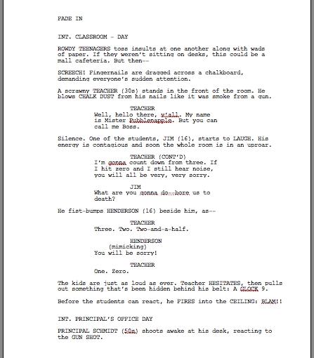 Story, script, andfeedback